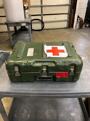 Pelican/Hardigg Military Surplus Rugged with Red Cross Medical Carry Case