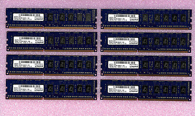LOT 32GB (8X4GB) KINGSTON  PC3L-10600E 2Rx8 ECC KR1P74-HYC PC10600E SERVER RAM !