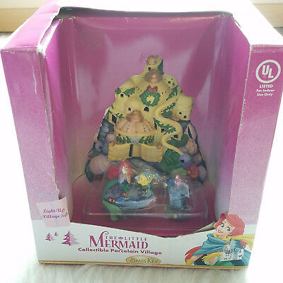 Brass Key The Little Mermaid Collectible Porcelain Light-Up Village Set NEW