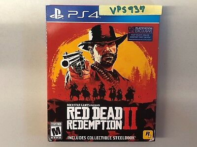Red Dead Redemption 2 II Collectible Steelbook (Sony Playstation 4 PS4 2018) NEW