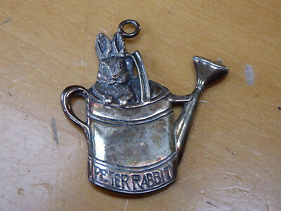 1996 Beatrix Potter Sterling Silver Peter Rabbit Ornament By Hand & Hammer
