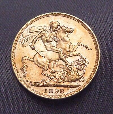 1898 Great Britain Sovereign | Stunning Shape | Gold 0.235 OZT