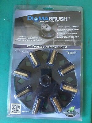 """7"""" Diamabrush Coating Removal Tool New Concrete Metal Surfaces,Package Has Wear."""