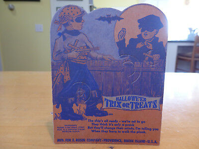 Vintage Rosen Trick or Treaters Candy Lollipop Card