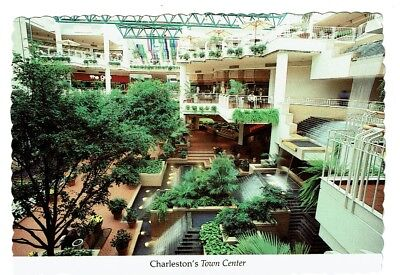 Vintage Interior View CHARLESTON TOWN CENTER MALL WV West Virginia Chrome PC