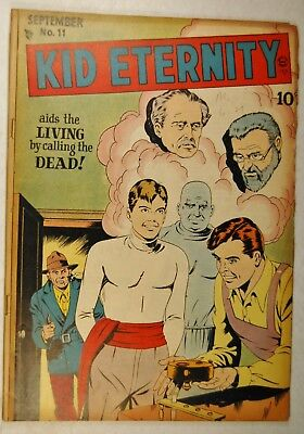 Kid Eternity #11 (Sep 1948, Quality Comic) Aiding the Living by Calling the Dead