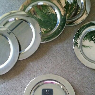 """Silverplate 6"""" Bread & Butter - Appetizer Chargers Plates - Set of 8"""