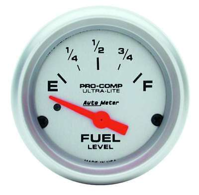 """Auto Meter 4314 Gauge Fuel Level 2 1/16"""" 0 to 90 Electric Ultra-Lite Chevy GM"""