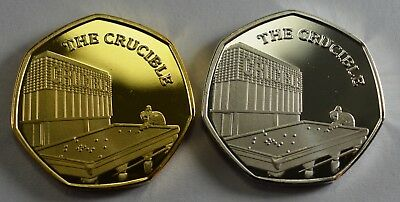 Pair of THE CRUCIBLE Commemoratives. 24ct Gold. Silver. Albums/Filler 2019