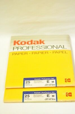 2-(two) 25 sheet pkgs of 8x10 Kodak Polyprint E RC black & white paper. NOS