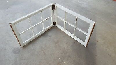 Architectural Salvage ANTIQUE WINDOW PANE FRAME RUSTIC WALL DIVIDER DECOR