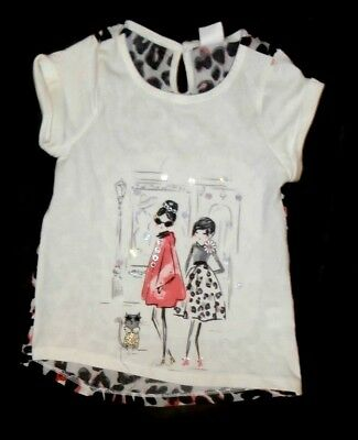 Nwt Gymboree Kitty In Pink Girls Size 4 Stylish Girls Leopard Print Top New
