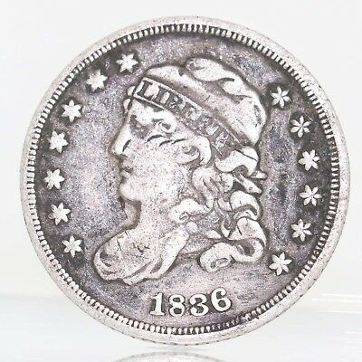 1836 Capped Bust Half Dime Silver Coin A9