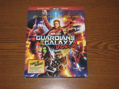 Guardians of the Galaxy Vol. 2 (Blu-ray/DVD, 2017, 2-Disc Set) with Slip Cover