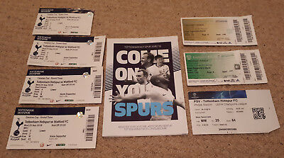 Tottenham Spurs Tickets 2018-2019 Watford PSV Cardiff City Carabao Cup programme