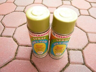 Vintage Channel Spray Paint Can No. C-10 Evocado Enamel Lot of 2