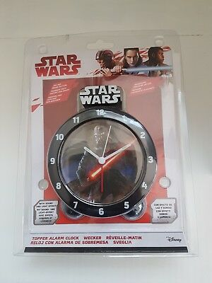 Official Licensed Star Wars Darth Vader Sound Analogue Alarm Clock - Black/Grey