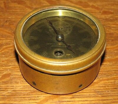 """Antique c.1905 CHELSEA 3"""" Boat Yacht SHIPS CLOCK Made in America 25987"""