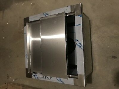 "Stainless Steel Drop In Ice Bin with Lid  18"" x 18"" x 12"" D. heavy duty."