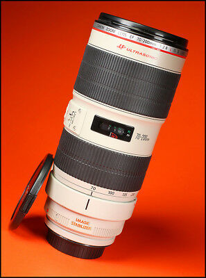 Canon EF 70-200mm F2.8L MK II Image Stabilizer Zoom Lens + Sold with Both Caps