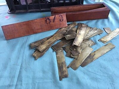 Vintage Brass Building Metal Work Dividers Timber Boxed Rare !