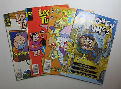 LOONEY TUNES LOT OF 4 #'s 22, 29 WHITMAN GOLD KEY AND #'s 11, 33 DC COMICS