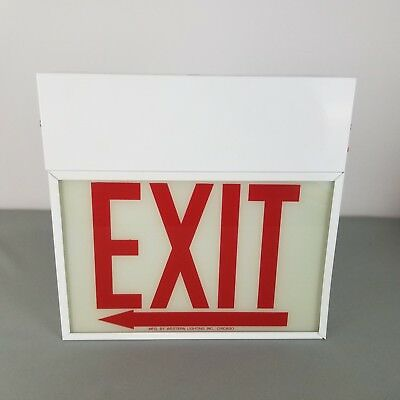 Exit Sign Manufactured By Western Lighting INC. Chicago, IL Sold AS IS