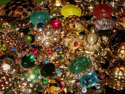 Huge Vintage Estate Mixed Turtle Brooch Jewelry Lot Ab Rs Napier Monet Jeweled