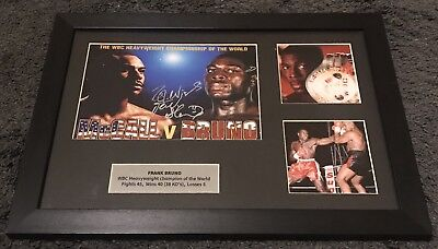 Frank Bruno Signed Framed Montage *Genuine With COA* Please Read Description