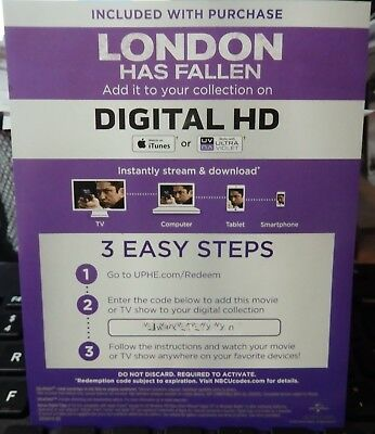 London Has Fallen Digital HD Code Only-Gerard Butler-Action Disaster Movie