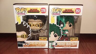 Funko PoP BATTLE DEKU SHOTA AIZAWA Hero Costume Academia My Hot Topic Exclusive