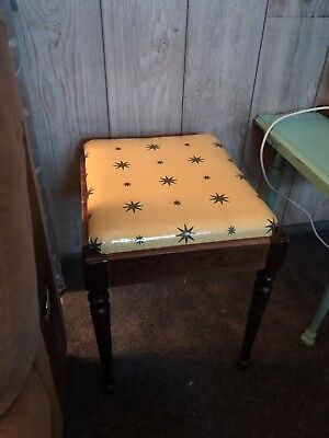 Starburst Singer Sewing Bench MId Century Modern Atomic Top