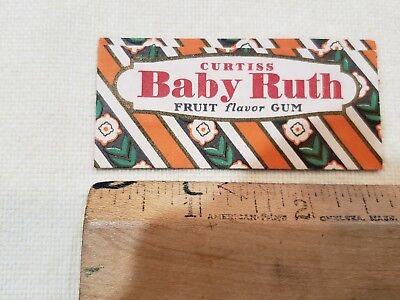Vintage Curtiss Baby Ruth Gum Wrapper Otto Schnering, Pres Candy Hall Of Fame