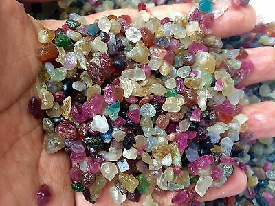GEMS-LOT! ROUGH SPINEL Multi-Colors Translucent Vitreous NATURAL100% Unheated