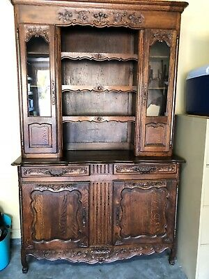 Antique Country French Hutch & Buffet