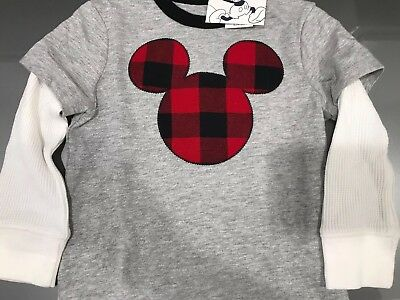 Gap Disney Mickey Mouse Long Sleeve Tee 18-24 Months New With Tags