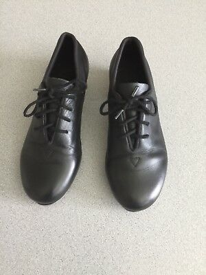 Bloch Youth Black Leather Shockwave Tap Shoes SZ 1M