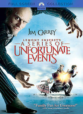 Lemony Snicket's a Series of Unfortunate Events Full Screen DVD SLIM CASE NO ART
