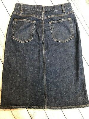 Gap Jeans 5 Pocket Denim Stretch Long Jean Skirt Womens Size 2 A2