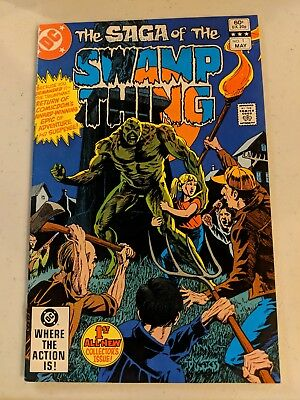 Saga of Swamp thing #1, #2, #3 (1982, DC). Yeates Art, 2nd Series