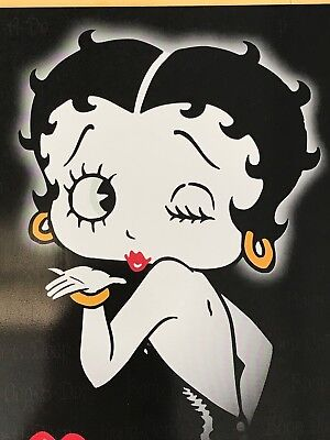 """Betty Boop Blowing """"Kiss"""" Tin Metal Sign #906 Cartoon Animation 16.5"""" By 12.5"""""""