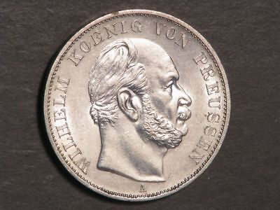 GERMANY-PRUSSIA 1871A 1 Thaler Victory of France Silver AU-UNC