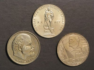 RUSSIA 1965-70-77 1 Rouble Proof-Like - 3 Coins