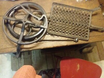Antique 1913 White Treadle Sewing Machine Flywheel/guard/ Pitman Arm/foot Pedal