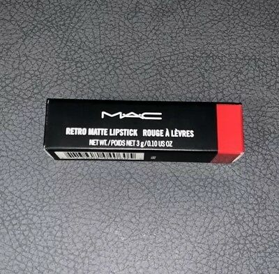 MAC Cosmetics Longwear Retro Matte Lipstick -Red Ruby Woo #707 -.10oz - NIB