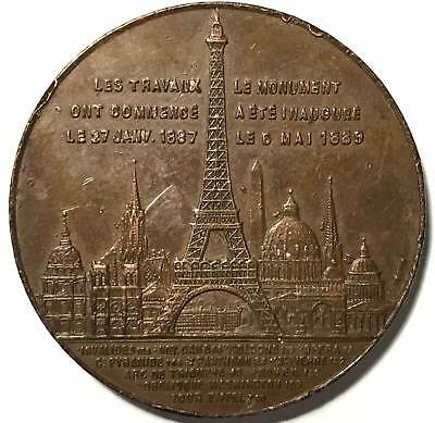 1889 French medal. Paris Souvenir opening day of Eiffel Tower.