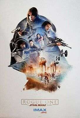 Rogue One: A Star Wars Story Original Promo Movie Poster 13x19 AMC IMAX
