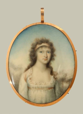 GEORGIAN PORTRAIT MINIATURE of a YOUNG LADY c.1790