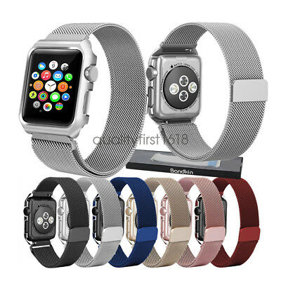 Apple Watch Band Correas Series 4 3 2 , Milanese Loop Stainless Steel Strap