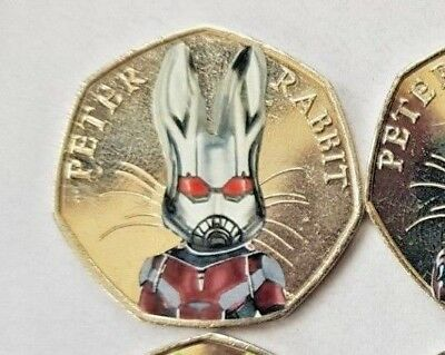 2016 Beatrix Potter peter rabbit ANTMAN uncirculated 50p COIN